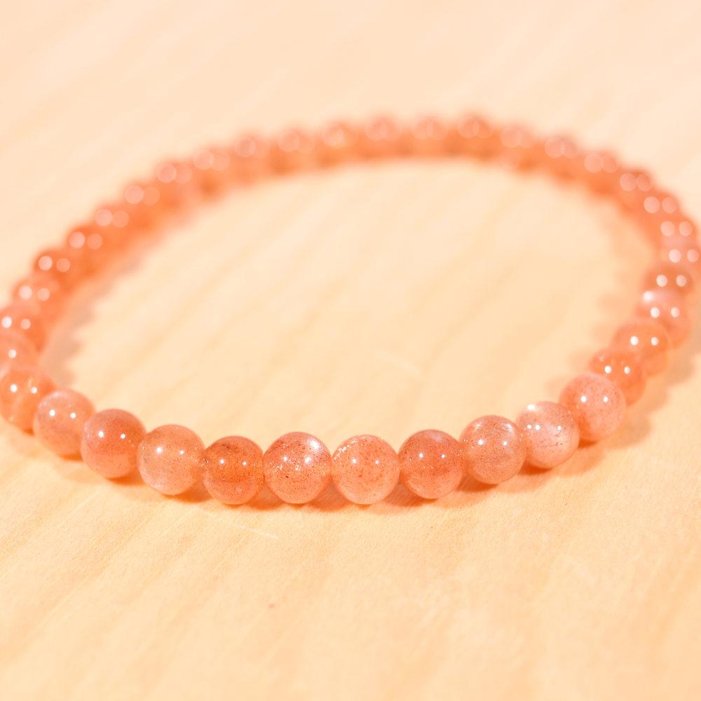 Bracelet en pierre de soleil, 6 mm