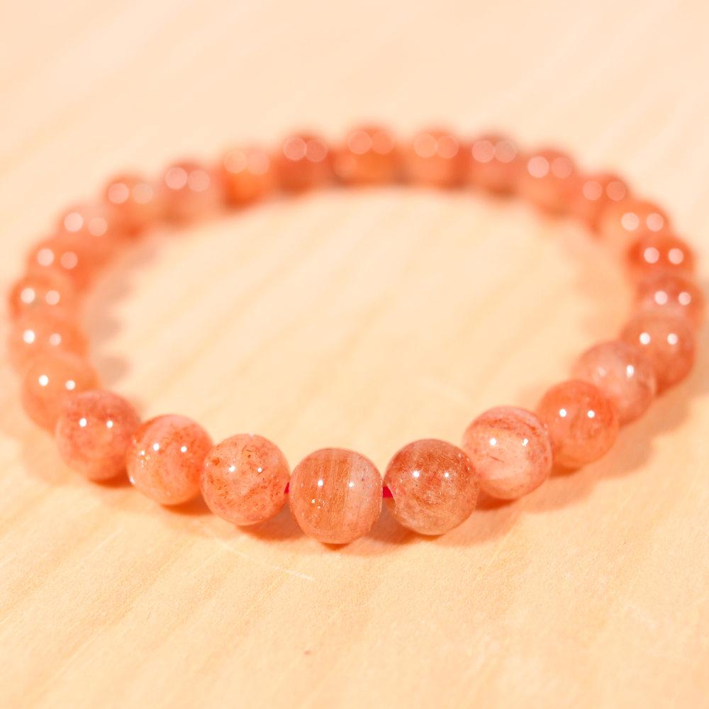 Bracelet en pierre de soleil, 8 mm