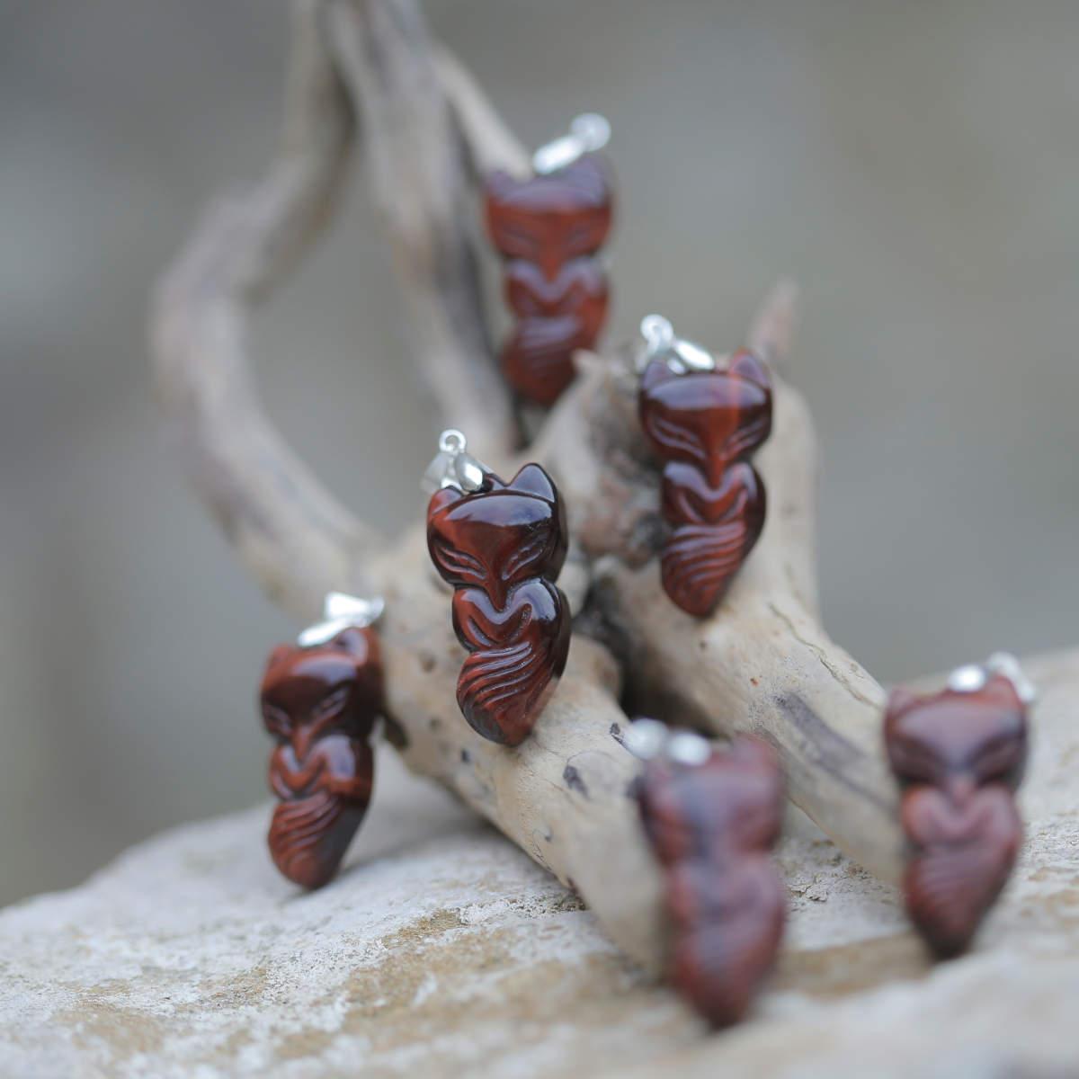 Sélection de pendentif renard en Œil de taureau
