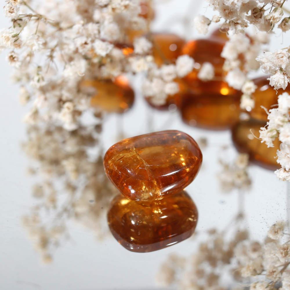 Calcite miel roulée