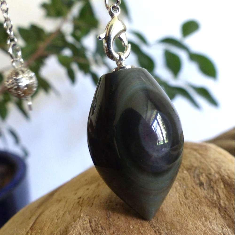 Pendule obsidienne œil céleste