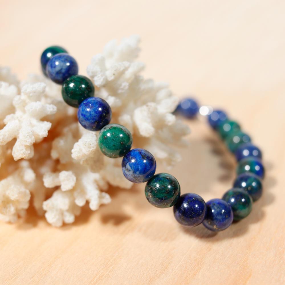 Bracelet en azurite-malachite