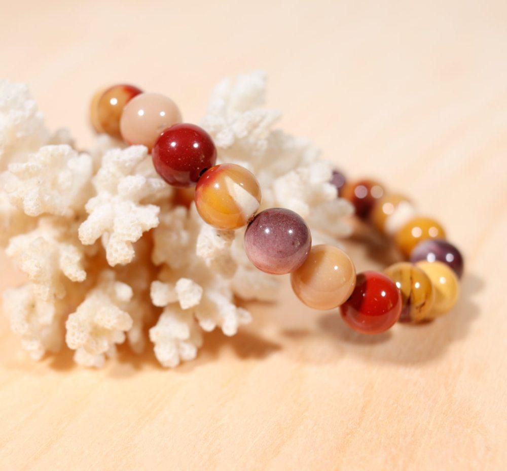 Bracelet en jaspe mokaïte