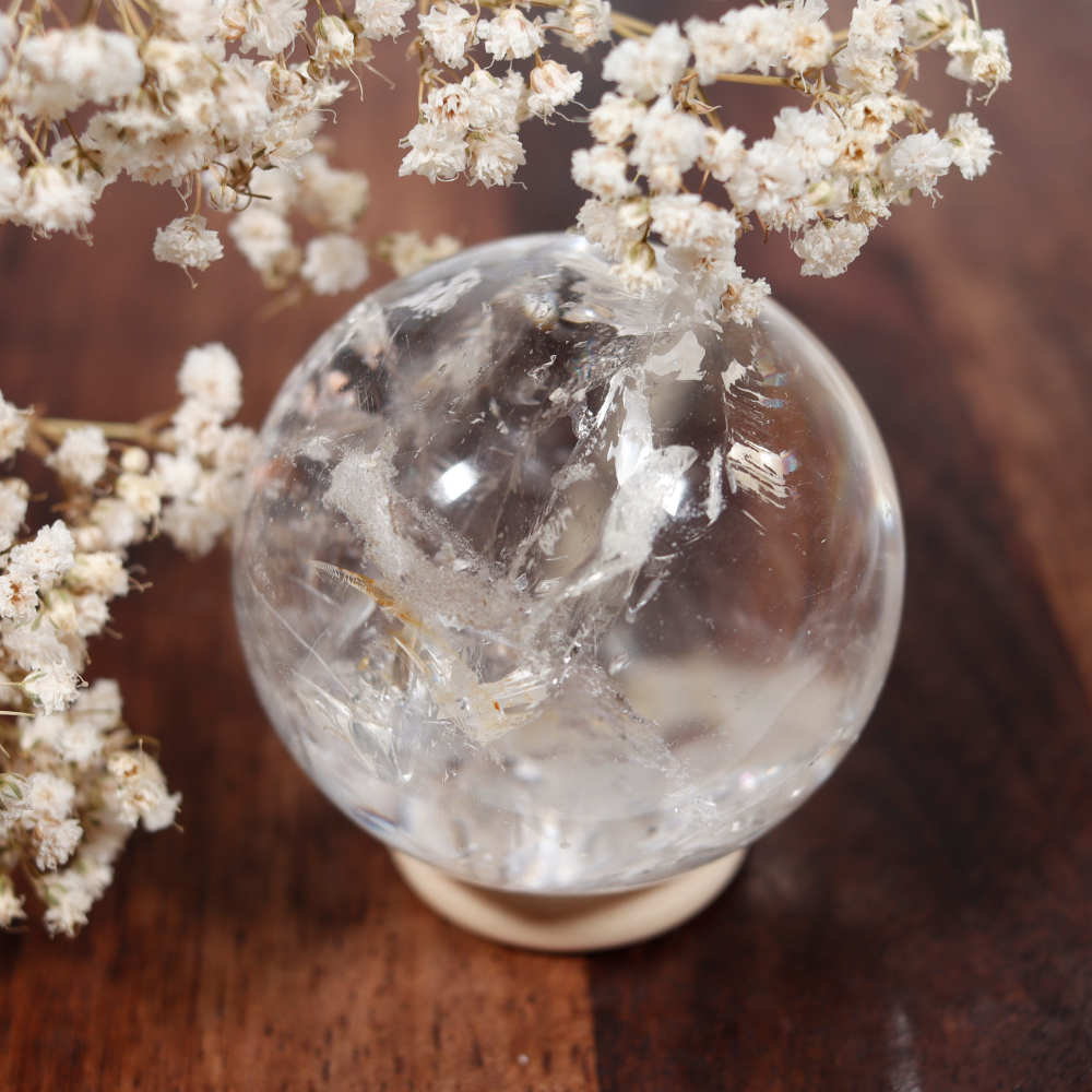 Sélection de sphère en cristal de roche