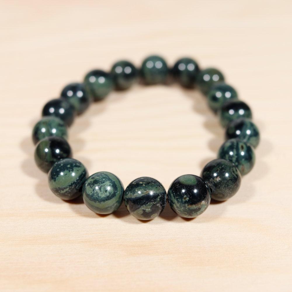 Bracelet en jaspe kambamba, perles de 10 mm