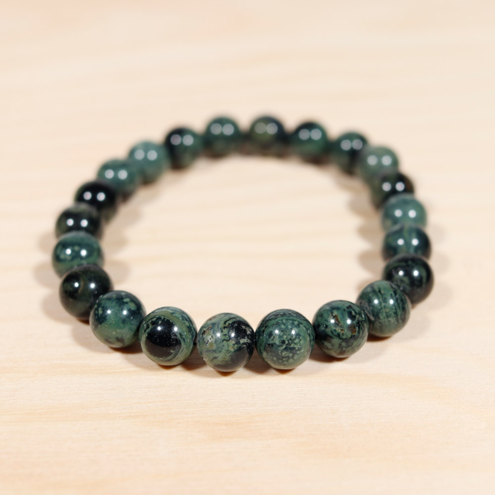 Bracelet en jaspe kambamba, perles de 8 mm