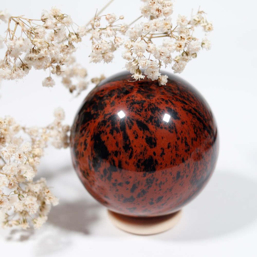 Sélection de sphère en obsidienne acajou