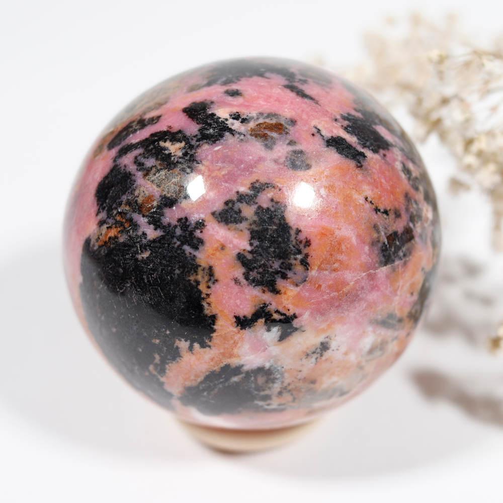 Sphère de rhodonite, modèle 1