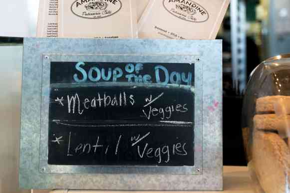soup menu board