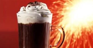 cafe helado con crema