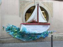 El barco de nuestras queridas vecinas artistas de Oslo. Este año hicimos la decoración junto a ellas, ¡y quedamos en 11ª posición! ¡Oleeee!