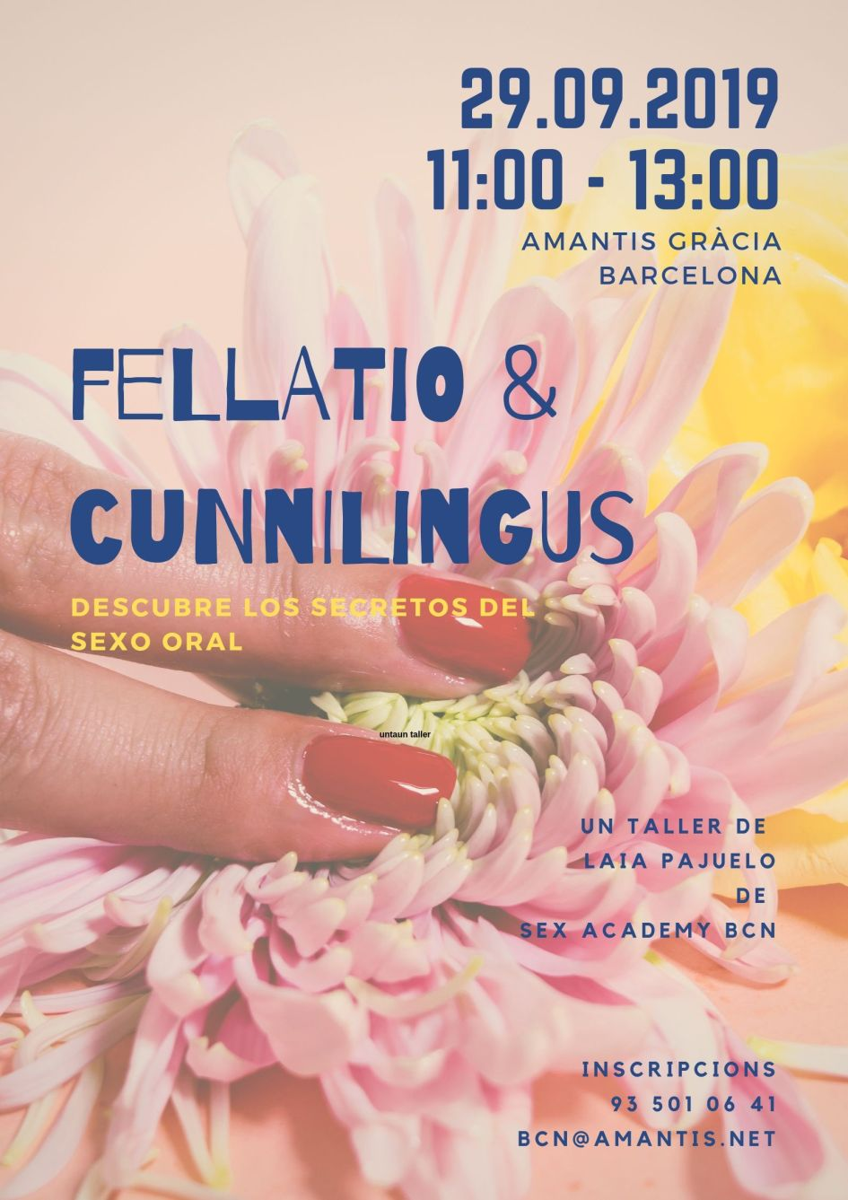 Flyer Taller Cunnilingus & Fellatio