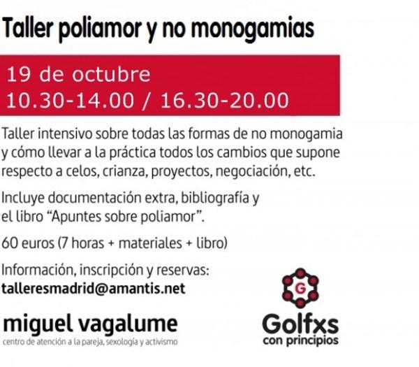 Taller Poliamor y no monogamias. 19.10