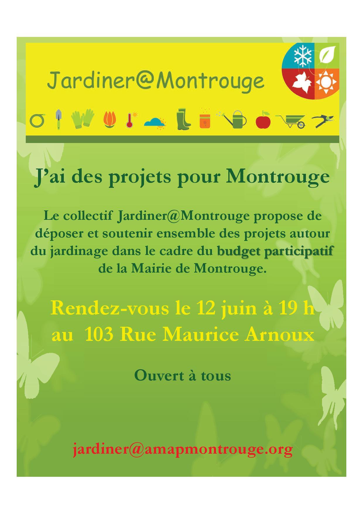 Les propositions de Jardiner à Montrouge pour le budget participatif de la Mairie