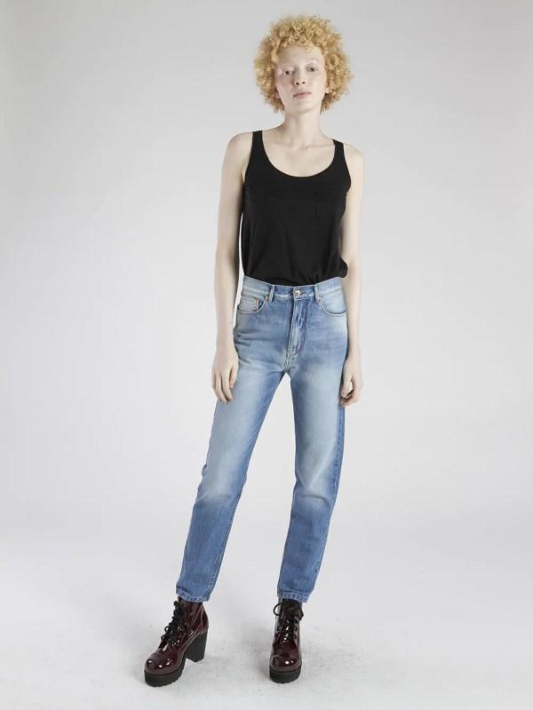 mom jeans cintura alta