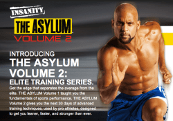 Programmes Insanity The asylum vol.2