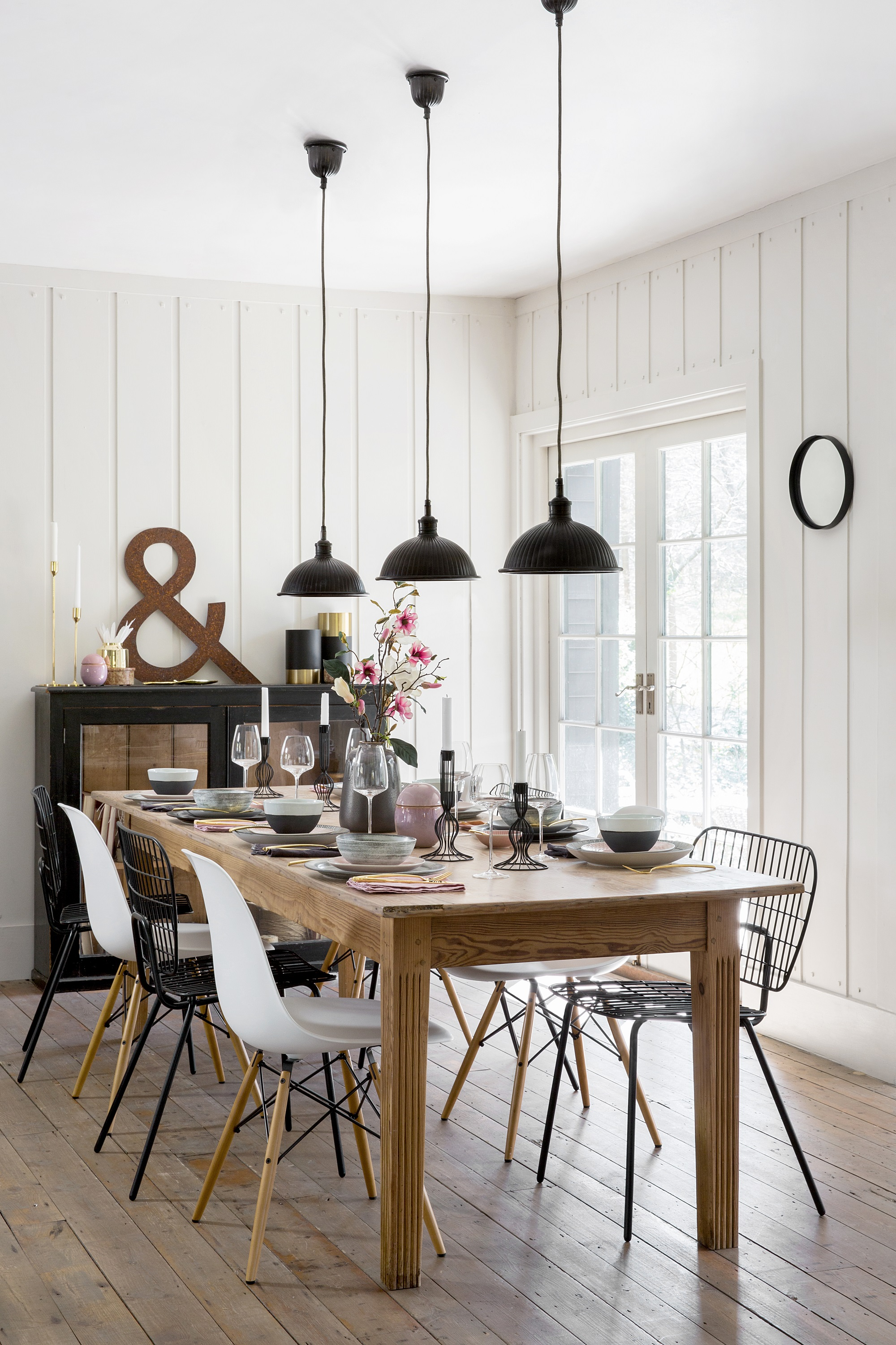 32 Stylish Dining Room Ideas To Impress Your Dinner Guests ... on Dining Room Curtains Ideas  id=72253
