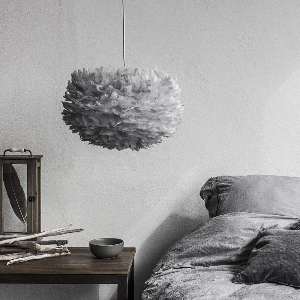 Buy Umage Eos Feather Lamp Shade Grey Medium Amara