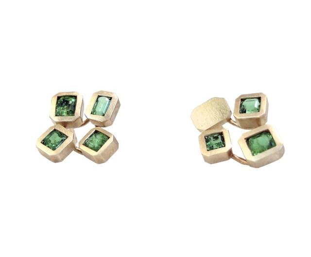 Pendientes de oro con esmeraldas antiguas