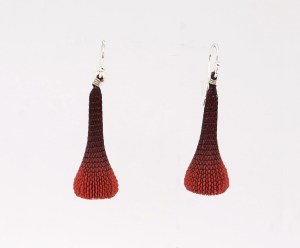 Tzuri Gueta. pendientes, earring, ゴールド ,Plata , Silver, silicon, red, Artesanía, design jewelry, crafts