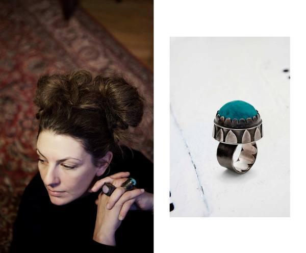 Glass. Silver ring. contemporary jewelry. art in jewelry. Jewelry design Joyería Barcelona Diseño Barcelona Arte Barcelona. Ocean