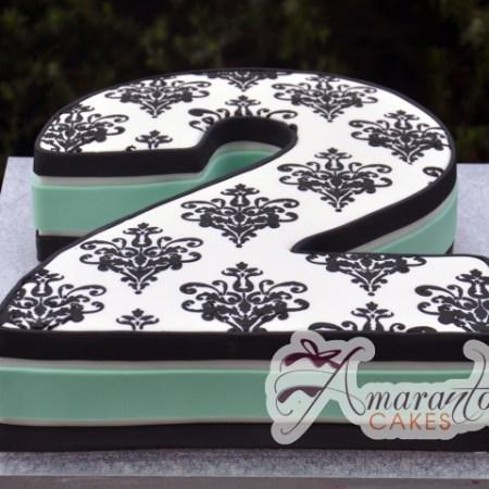 Number birthday cake - Amarantos Designer Cakes Melbourne