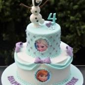 Two tier Frozen Cake - AC316 - 1st Birthday Amarantos Cakes