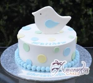 Baby Birthday Christening Cake - Amarantos Melbourne Cakes