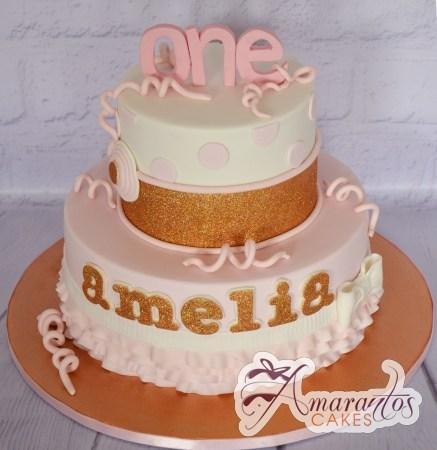 Two Tier One Cake - Amarantos Designer Cakes Melbourne