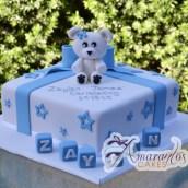 Square Teddy Bear Cake - Amarantos Designer Cakes Melbourne