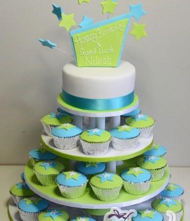 Four Tier Cupcake Cake - Amarantos Designer Cakes Melbourne