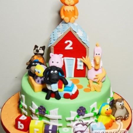 Timmy Time theme cake - NC215