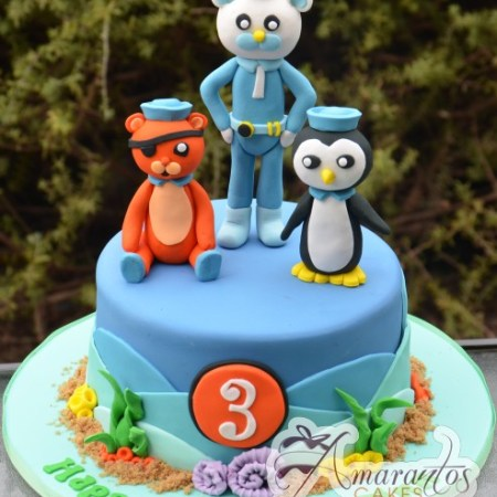 Base with Octonauts Characters - Amarantos Cakes Melbourne