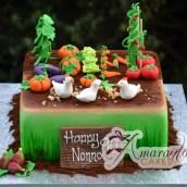 Vegetable Garden Cake - Amarantos Celebration Cakes Melbourne