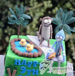 The Regular Show Cake - Amarantos Designer Cakes Melbourne
