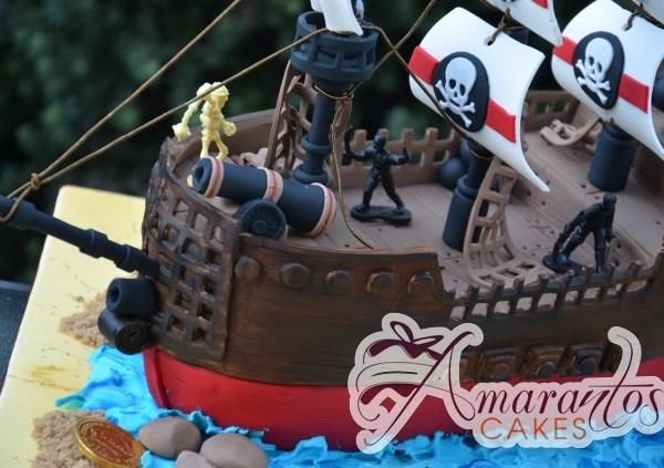 3D Pirate Ship Designed Cake - Amarantos Cakes Melbourne