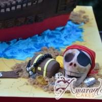 3D Pirate Ship Designed Cake - Amarantos Designer Cakes Melbourne