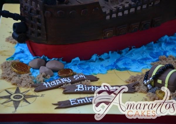 Pirate Ship Designed Cake - Amarantos Designer Cakes Melbourne