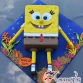 2D Sponge Bob- NC669 - Amarantos Cakes Melbourne