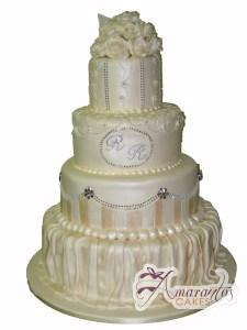 Four tier wedding - WC14 - Amarantos Wedding Cakes Melbourne