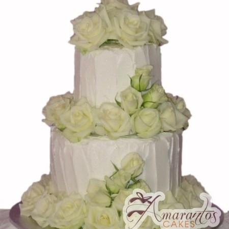 Four Tier Cake - WC37 - Amarantos Wedding Cakes Melbourne