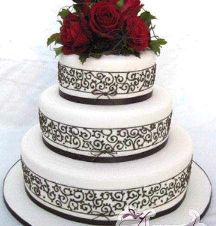 Three Tier Cake - WC79 - Amarantos Wedding Cakes Melbourne