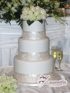 Six Tier Cake - Amarantos Wedding Cakes Melbourne
