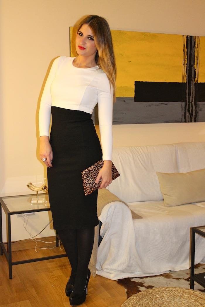 black white dress amaras la moda4
