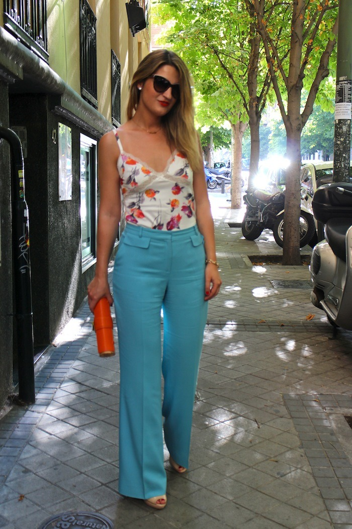 palazzo pants Angel Schlesser dolce and gabanna top clutch Michael Kors sunnies Amaras la moda 6