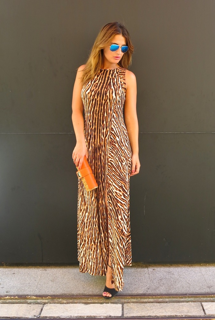michael kors long dress leopard Amaras la moda 3