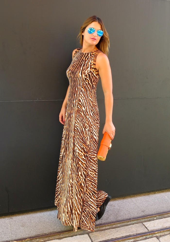 michael kors long dress leopard Amaras la moda 5