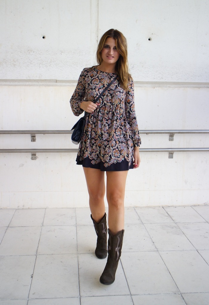 flower dress hakei boots amaras la moda 3