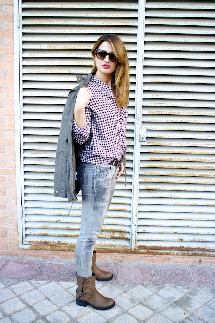 camisa cuadros zara botas mustang dolce and gabanna jeans michael kors bag amaras la moda