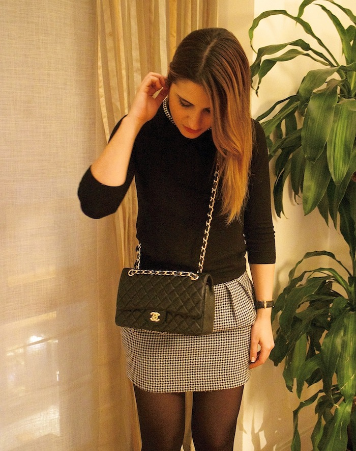 zara sweater chanel bag amaras la moda 3